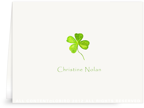 Four Leaf Clover -Folded Note Cards