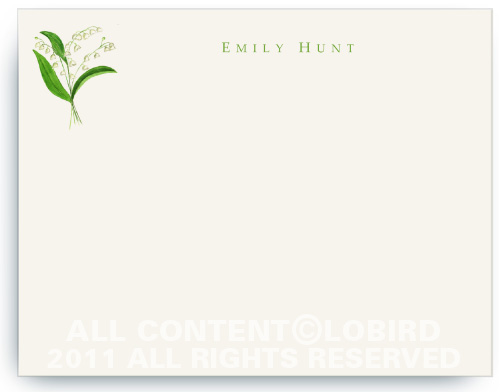 Lily of the Valley - Flat Note Cards