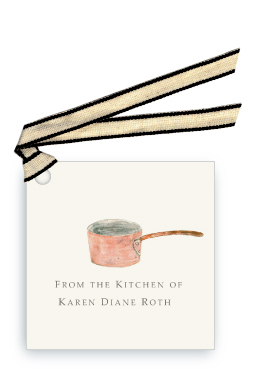 Chef's Copper Pot - Gift Tags