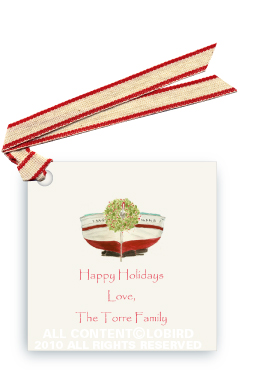 Holiday Boat - Gift Tags
