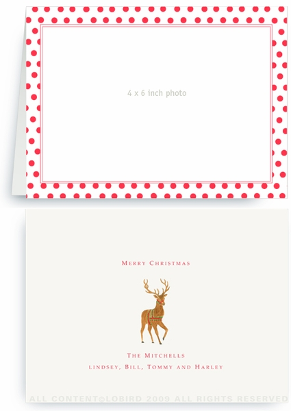 Holiday Red Dots - Photo Greeting Cards