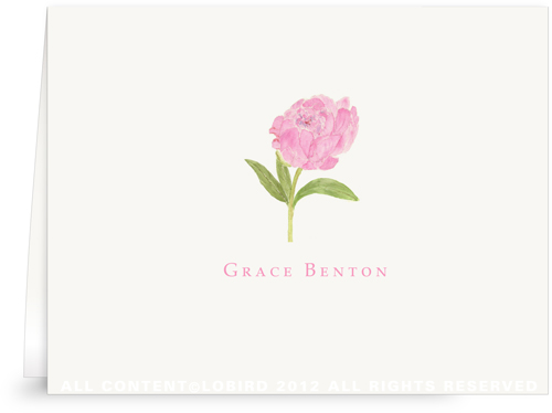 Pink Peony - Folded Note Cards