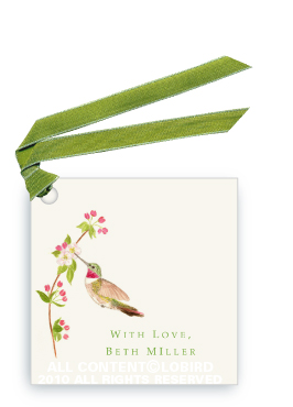 Ruby Throated Hummingbird - Apple Blossom - Gift Tags