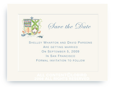 SF Coat of Arms - Save the Date Cards