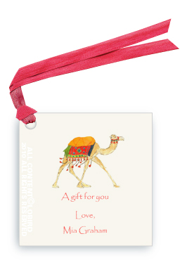 Festive Camel - Red - Gift Tags