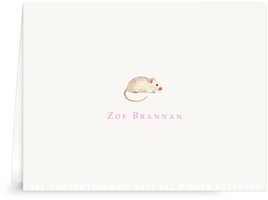 Tiny Mouse - Folded Note Cards