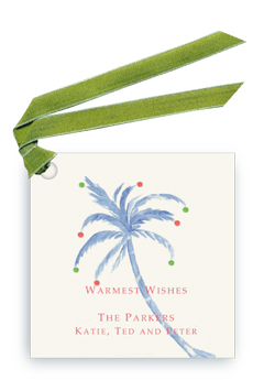 Holiday Palm - Gift Tags