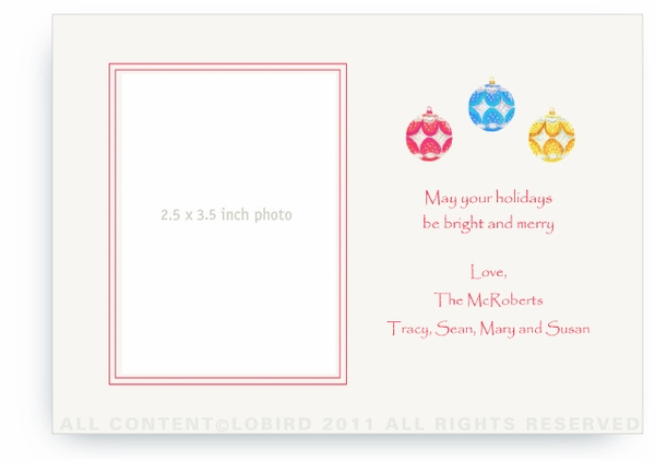 Ornaments - Photo Greeting Cards