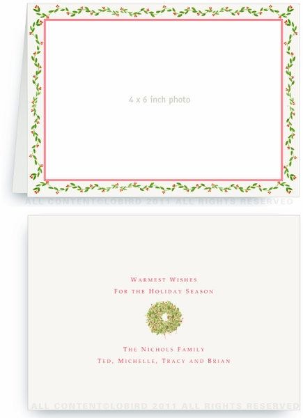 Holiday Vine - Photo Greeting Cards