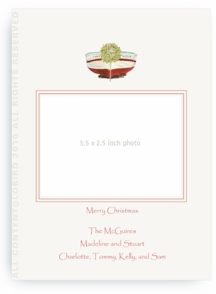 Holiday Boat - Photo Greeting Cards