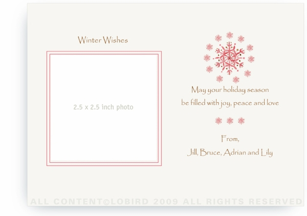 Red Snowflakes - Photo Greeting Cards