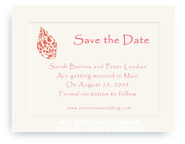 Babylon Sea Shell - Save the Date Cards