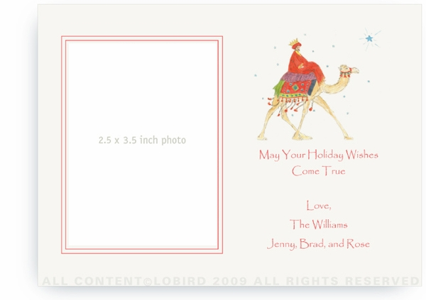 Wise Man on Camel - Photo Greeting Cards