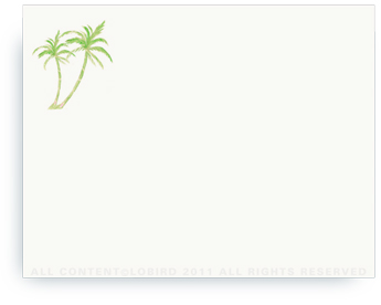 """Twin Green Palms - Non-Personalized Note Cards (4.25"""" X 5.5"""")"""