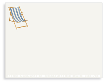 "Beach Chair - Blue- Non-Personalized Note Cards (4.25"" X 5.5"")"