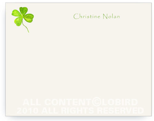 4 Leaf Clover - Flat Note Cards