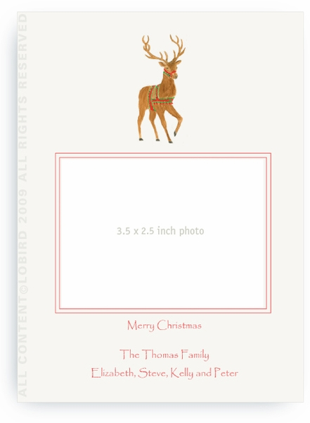 Holiday Reindeer - Photo Greeting Cards