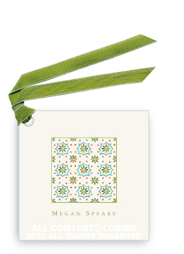 Talavera Tile - Green/Turquoise - Gift Tags