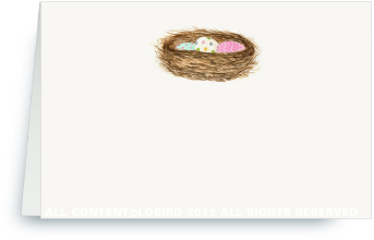 Nest with Easter Eggs - Place Cards