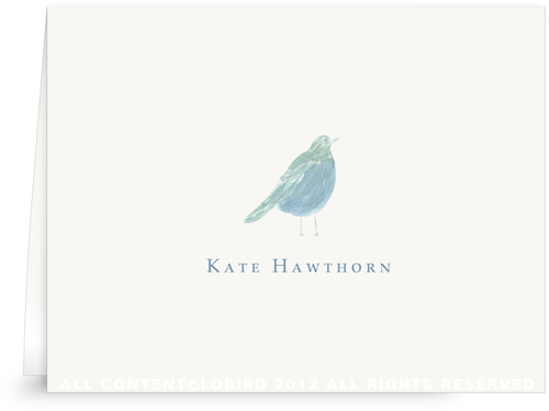 Blue Song Bird -Folded Note Cards