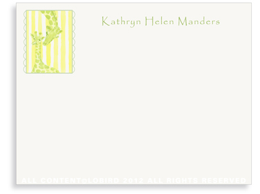 Giraffe Mother & Child - Flat Note cards