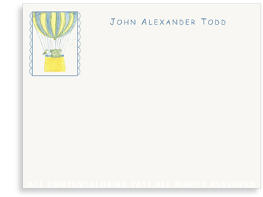 Lion Ballooning - Flat Note cards