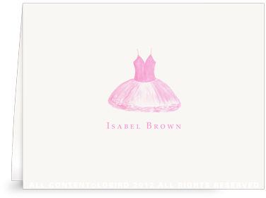 Rose Pink Tutu - Folded Note Cards