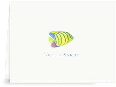 Angel Fish - Folded Note Cards