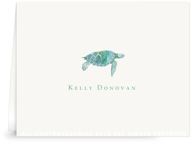 Sea Turtle - Folded Note Cards