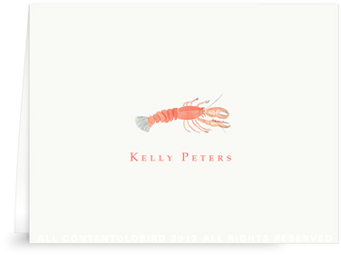 Lobster - Folded Note Cards