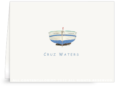 Blue Boat - Kids - Folded Note Cards