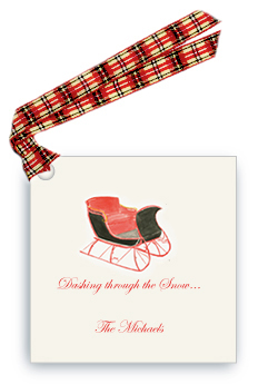 One Horse Sleigh - Gift Tags