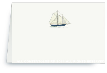Schooner - Place cards
