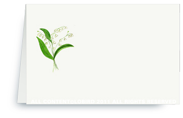 Lily of the Valley - Place Cards