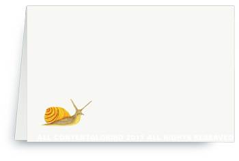 Garden Snail - Placecards