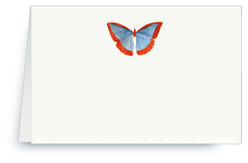 Butterfly - Blue/Red - Placecards