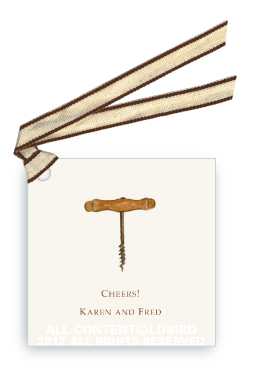 Corkscrew - Gift Tags