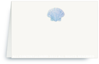 Blue Scallop Shell - Place cards
