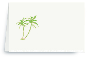 Twin Green Palms - Place cards