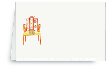 Chinese Chippendale Chair - Place cards