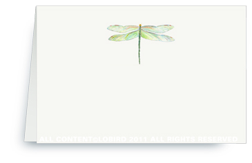 Dragon Fly - Green - Placecards