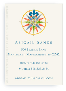 Compass Rose - Calling Card