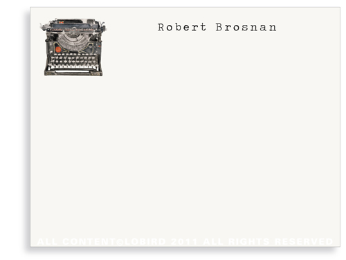Antique Typewriter - Flat Note Cards