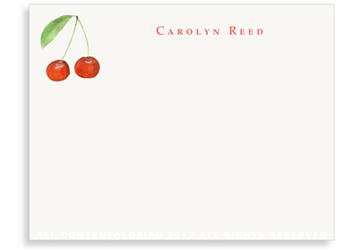 Cherries - Flat Note Cards