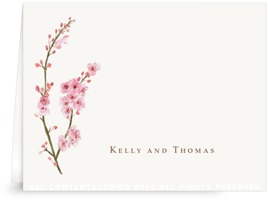 Cherry Tree Blossom - Folded Notes