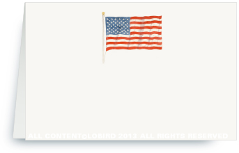 American Flag - Place Card