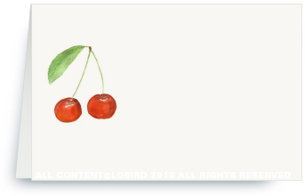 Cherries - Place Cards