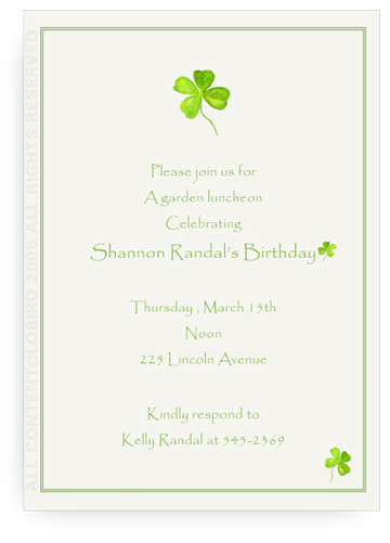 Four Leaf Clover - Invitations