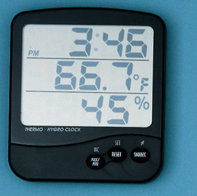 General Tools DTH04 Digital Temperature/Humidity Indicator with Clock and Recording Feature