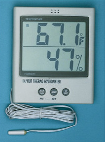 General Tools DTH05P Indoor/Outdoor Temperature & Humidity Indicator